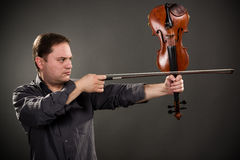 Violin Shooter Royalty Free Stock Images