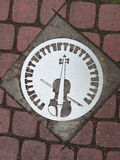 Violin sign Stock Photos