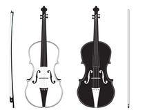 Violin Silhouette Stock Image