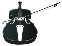 Violin Silhouette Stock Photography