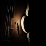 Violin silhouette strings close up. Musical instruments of orchestra closeup stock photography