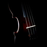 Violin silhouette strings closeup. Musical instruments of orchestra close up stock photography