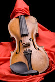 Violin on silk Stock Photo