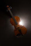 Violin with smoke Stock Images