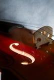 Violin with smoke Royalty Free Stock Photos