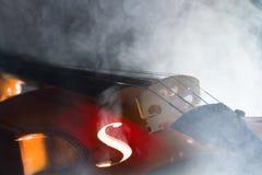 Violin with smoke Stock Photos