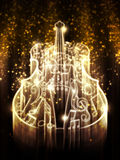 Violin with Sparks Royalty Free Stock Photos