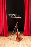 Violin on stage theater Stock Photo