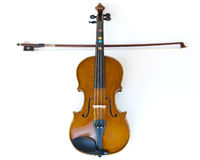 Violin and stick placed as cross Stock Image