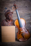 Violin  still life Stock Photo