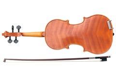 Violin stringed instrument, bottom view Royalty Free Stock Photos