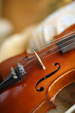 Violin and strings Royalty Free Stock Photography