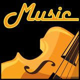 Violin. Stylized vector illustration on a musical theme. violin. can be used as a sign, a symbol, an icon or as part of, or the whole composition in your design Stock Photo