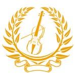 Violin symbol royalty free stock images