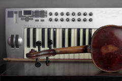 Violin And Synthesizer Royalty Free Stock Image