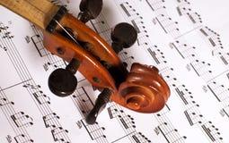 Violin and tab. Violin musical instrument and tab Royalty Free Stock Photography