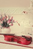 Violin on the table Stock Photos