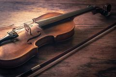 Violin on Table royalty free stock images