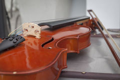 Violin on a table - (Selective Focus) Royalty Free Stock Photography