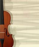 Violin text card Stock Image