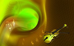 Violin and tunnel background Royalty Free Stock Images