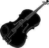 Violin Vector 01. Antique Violin High Detail Vector Stock Photo