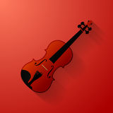 Violin vector illustration. On red eps 10 Royalty Free Stock Photos