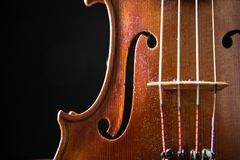 Violin in vintage style Stock Photo
