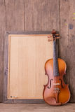 Violin in vintage style Stock Photography