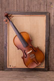 Violin in vintage style Royalty Free Stock Photo
