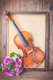 Violin in vintage style Stock Photos