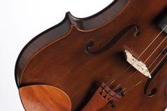 Violin Viola Body Isolated on White Stock Photos