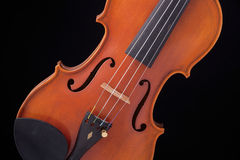 Violin Viola Isolated On Black Stock Photos