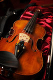 A Violin in violin case Stock Image