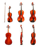 Violin on white Royalty Free Stock Image