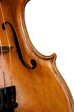 Violin on white Royalty Free Stock Photos