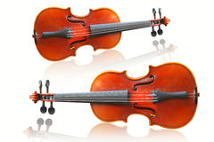 Violin on white background Royalty Free Stock Photos