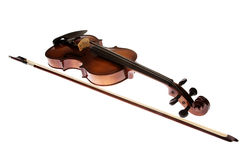Violin on the white background Royalty Free Stock Photography