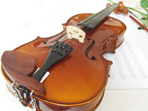 Violin. A violin on white background Stock Photography
