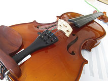 Violin. A violin on white background Stock Photos