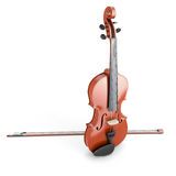 Violin on a white. Violin  on white background. 3d render image Stock Images
