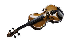 Violin on a white background. Musical instrument, violin on a white background Royalty Free Stock Photography