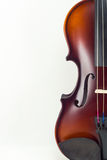 Violin on white background Royalty Free Stock Photo
