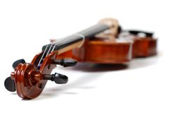 Violin on White (series) Royalty Free Stock Photos
