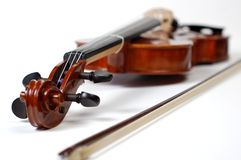 Violin on White (series) Royalty Free Stock Images