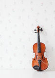 Violin on white table Royalty Free Stock Photography