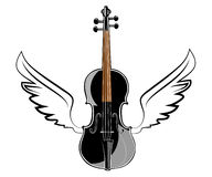 Violin with wings Royalty Free Stock Photography