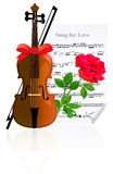 Violin With Rose Stock Image