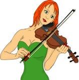 Violin woman Royalty Free Stock Photos