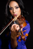 Violin Woman Stock Photos
